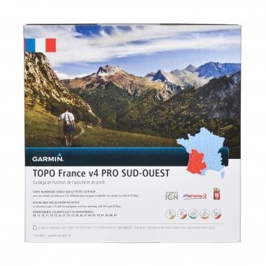Carte Topographique GARMIN pour GPS TOPO France, Sud-Ouest V4 Pro